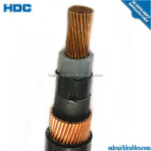 11KV 15KV XLPE 240mm2 300mm2 power cable indoor and outdoor pvc cable