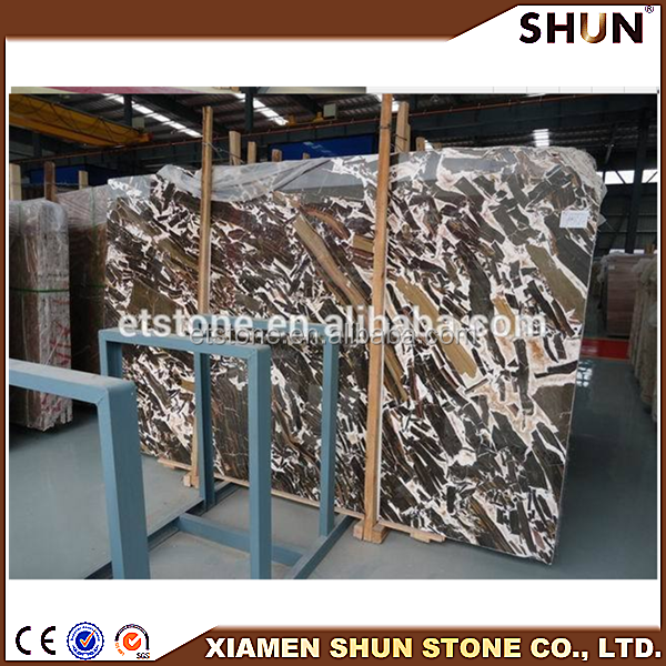 Marble tile for Luxury decoration/Cappuccino marble floor tiles/Brown color marble