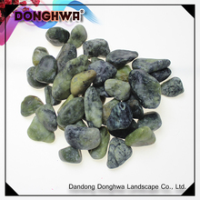 High quality natural green jade (dark) pebble stone direct sale