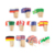 Bamboo wood exfoliate custom australia toothpick flags