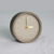 Mini round shape desktop decorative Plain concrete fancy table clock