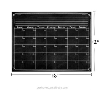 Calendar Writting Board Fridge Magnet Gloss Lamination+Magnetic Layer+PVC+Protective Layer