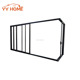 YY heavy duty aluminium triple glass sliding door