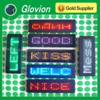 led flashing badge digital led name badge programmable led name badge