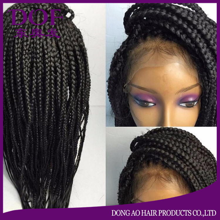 Tuneful Synthetic Hair Braid Lace Front Wigs with Baby Hair for Black Women