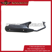 Universal ATV Go Kart Scooter Street Motorcycle GY6 BLK Racing Exhaust Muffler 50cc for KM001