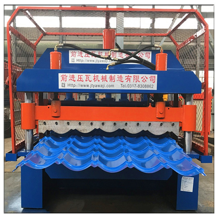 Full Automatic Roof Sheet Glazed Tiles Roll Forming Machine