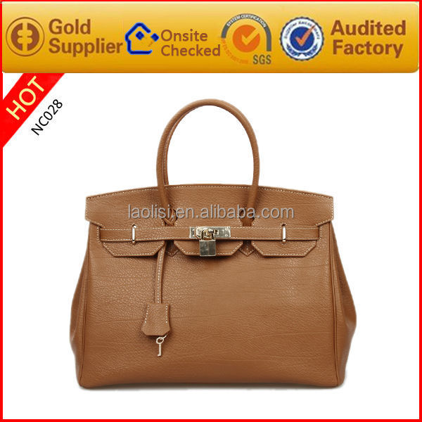 OEM Famous Brand Design Fashion leather handbags for lady ladies