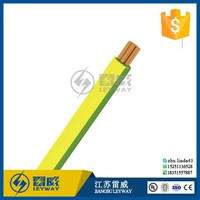 green yellow ground solid copper pvc electric wire and cable