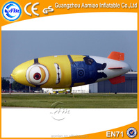 Custom commercial inflatable balloon helium blimp helium balloon/Minions helium blimp
