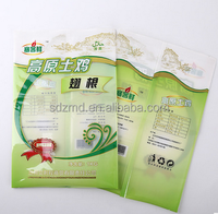 Food grade clear window plastic packaging bag for chicken wings