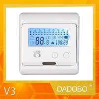 V3 digital underfloor heating carbon film thermostat for room central control