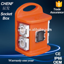 Combination distribution socket box IP66 industrial portable electrical portable socket enclosure witch 2 meter wire