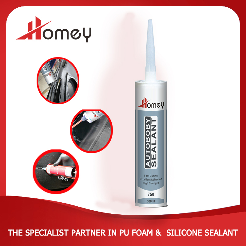 Homey 750 black color silicone sealant for windshield windscreen