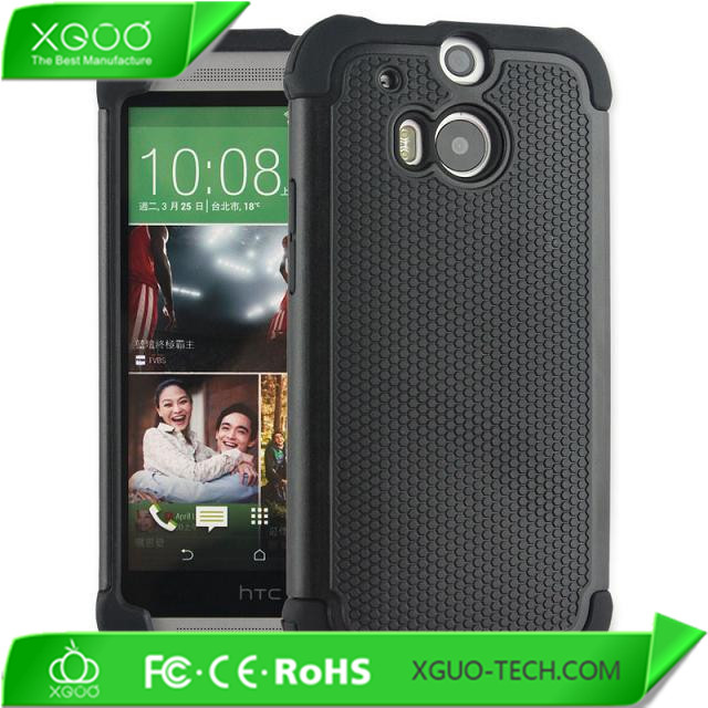 combo pc + silicone hard cover case for htc m8