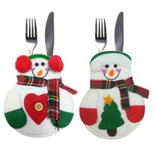 Christmas Decorations Gifts, Christmas Tableware Cover, Knife And Fork Set Decoration Gift