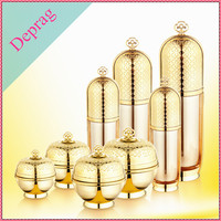 2016 new luxury crown shape gold 50ml beautiful bottle,China plastic cosmetic container manufacturers