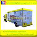 High income play house equipment-truck mobile 5D cinema