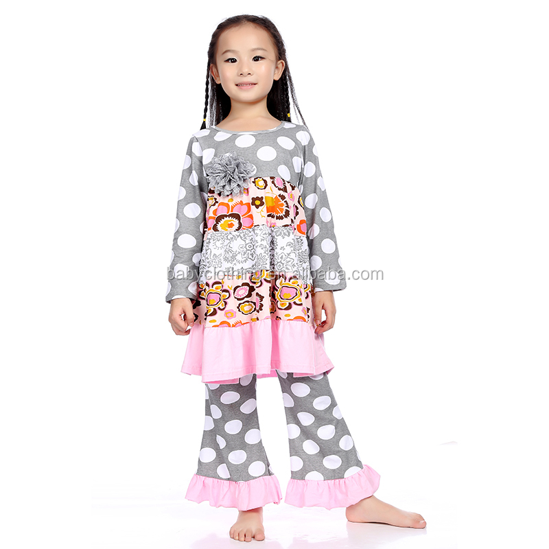 Children boutique clothes baby girls fall winter clothing sets