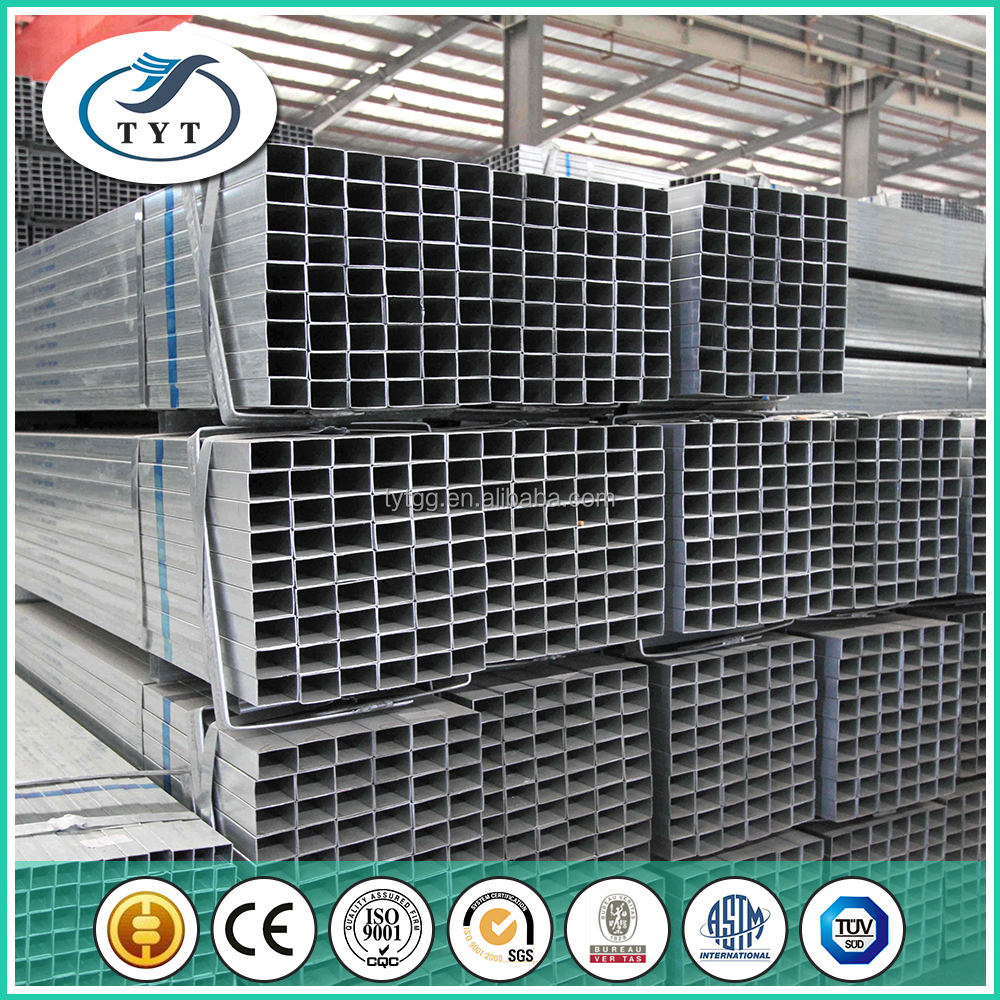Q195 galvanized square tube standard packing for expport