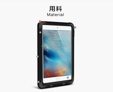 LOVE MEI TAKTIK CASE POWEFUL EDITION Metal+Aluminium+Gorilla Glass +Silicon Hybrid Case for IPAD MINI4 MINI 4 Case ANTI-SHOCK