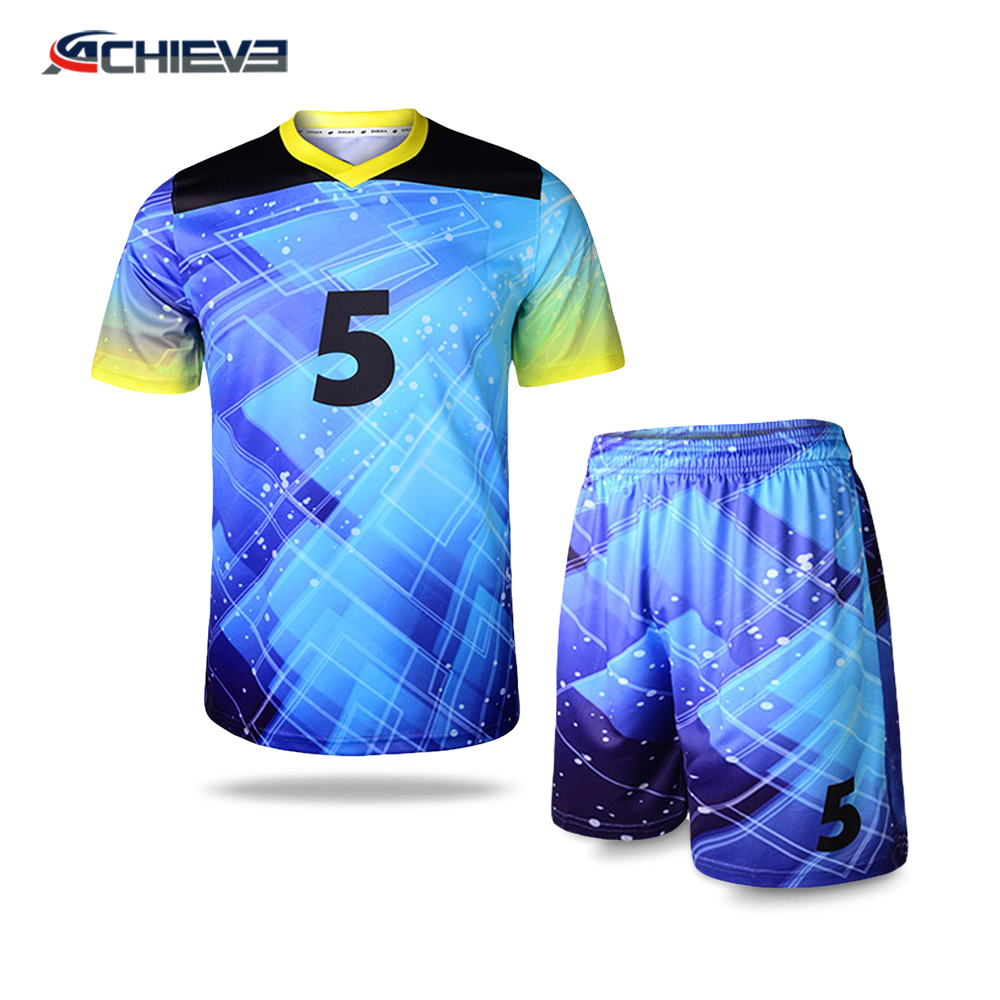 Fashion style sports team football jerseys and team soccer uniform