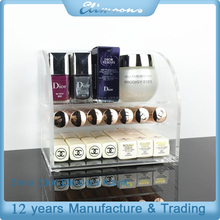 Wholesale Nail Polish Storage Case/Acrylic Clear Cube Makeup Organizer