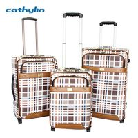 Trolley PU leather luggage case luggage elastic band