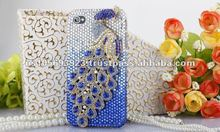Fashion Luxury Crystal Bling Diamond Case Cover For Apple Iphone4S 4G With Retailer Fashion Boxes 12 Colors