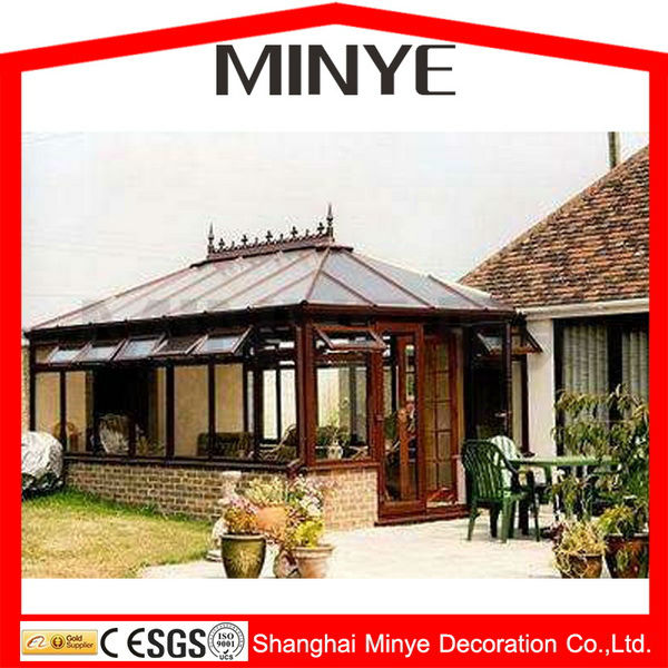 Polygon insulated roof aluminum sun room glass house