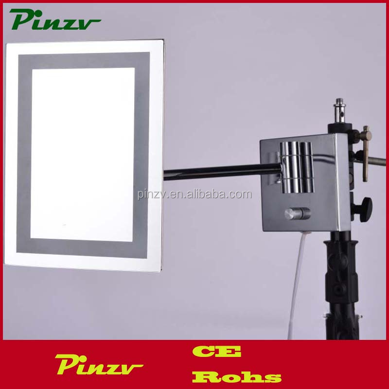 Square wall mount magnifying makeup mirror with led lights led lighted magnifying makeup mirror