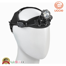 UGOE USB charged led headlamp for outdoor sports long range 1000lms USB rechargeable headlight