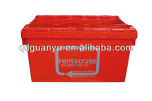 Red plastic storage crate (PK-6040)