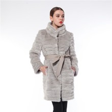 2017 New Design Hot Sale Europe Style Long Mink Fur Coat