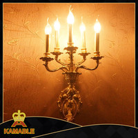 Hot sale gold plating decorative candle wall sconces