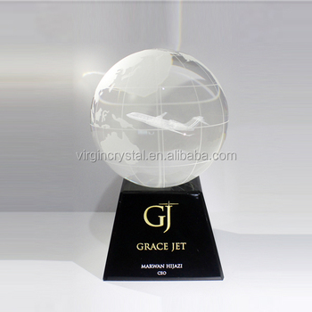 Wholesale small crystal ball with 3d laser engrave for souvenir