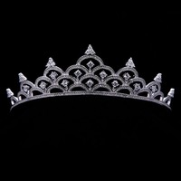 cubic zircon flower crowns miss beauty pageant bridal crown tiara