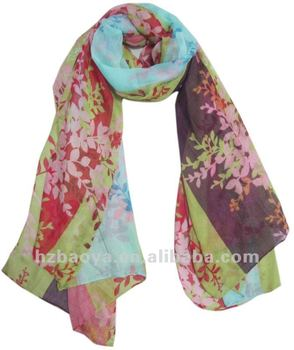 Hot fashion colorful flower printing women hijab scarves