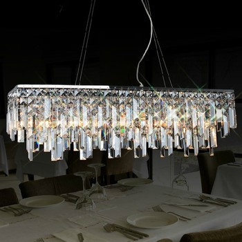 Modern luxury crystal chandelier light dining room lamp