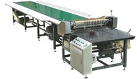 Hot melt glue feeding and pasting machine