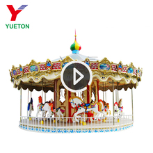 Different Models Electric Playing Equipment Zoo Animal Carousel For Amusement Park
