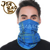 Custom logo neck gaiter unisex 100% polyester stretchy neck gaiter