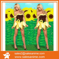 Halloween promotional uniforms nude Sunflower dress Flower Fairy Elf anime cartoon cosplay costume