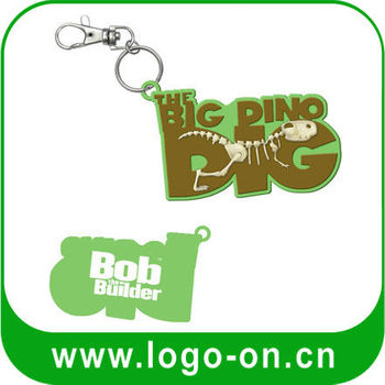 3D PVC Custom Rubber Keychain - Plastic rubber keychain custom for promotional