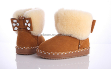 2017 Best cute kids snow boots for girls
