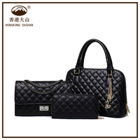 2016 New design women Corcodile bag factory supplier five bags in one set wholesale lady handbag