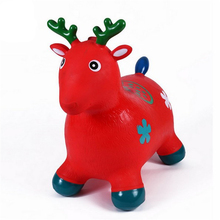 Jumping Cute Deer Music Inflatable Bouncer Jumping Riding On Animal Inflatable Bouncy Horse Toys Funny