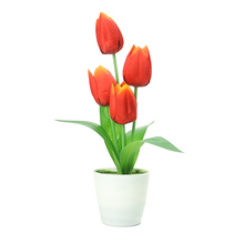Hot Selling Table Centerpieces Silk Artificial Decorative Tulip Flower Bonsai