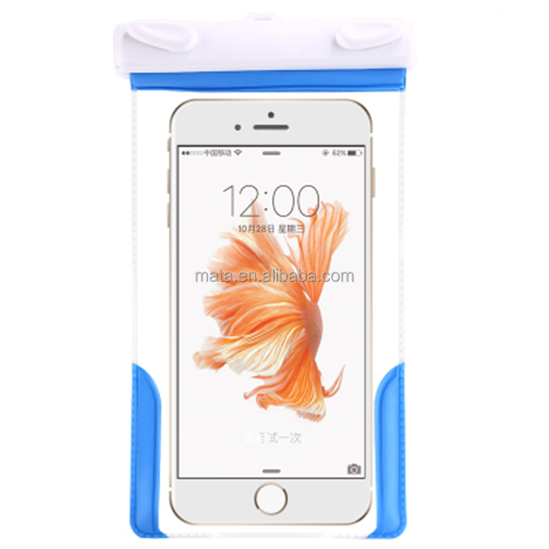 Top Sale Cell Phone Accessory Waterproof Case with IPX8 Certificated for 25m (up to 6' inch)