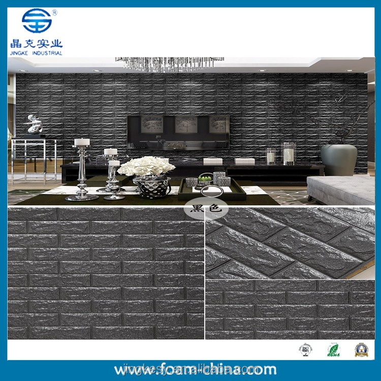 3d textured wallpaper/white faux brick wall panels/decorative wall panel
